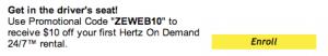 hertz promo