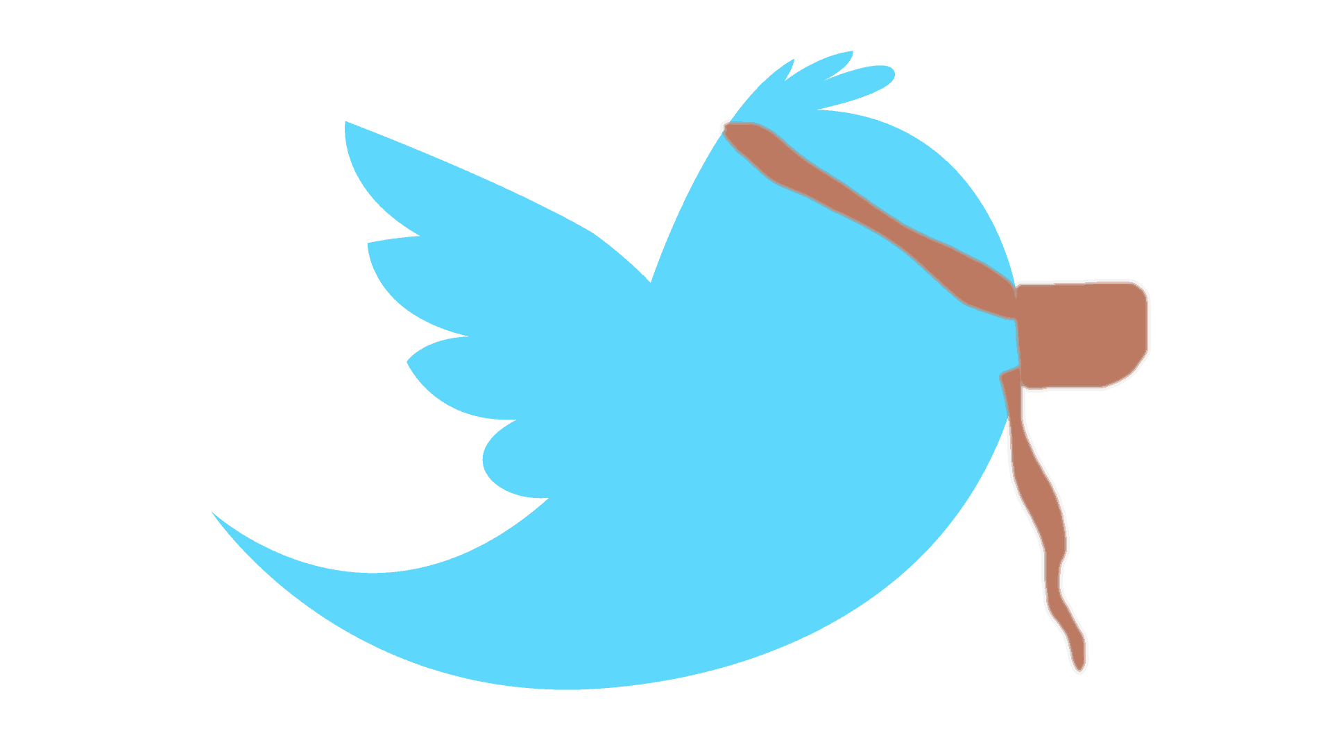 Twitter bird partially muzzled