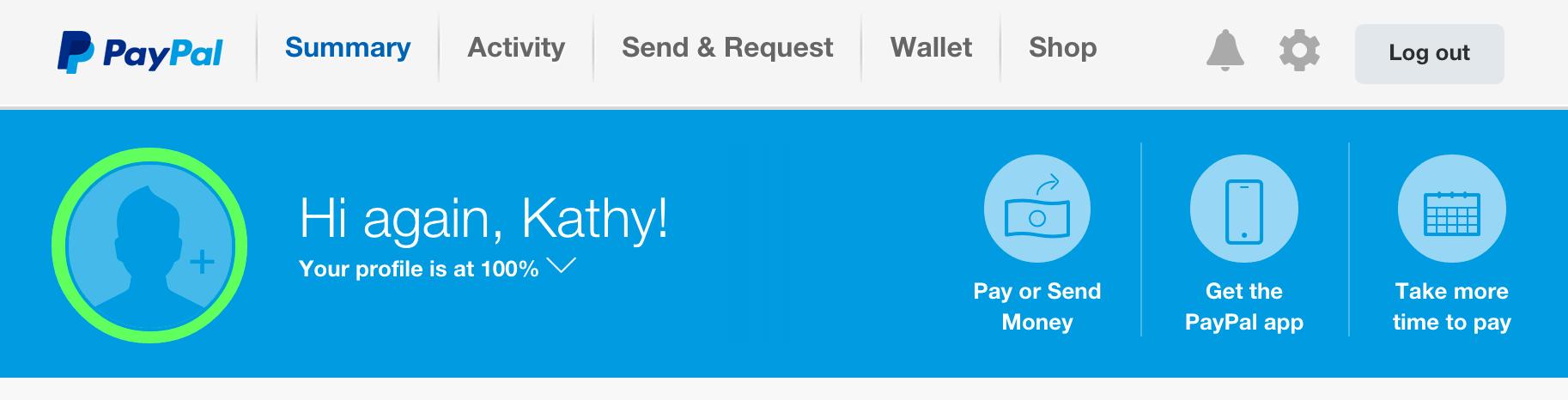 PayPal header