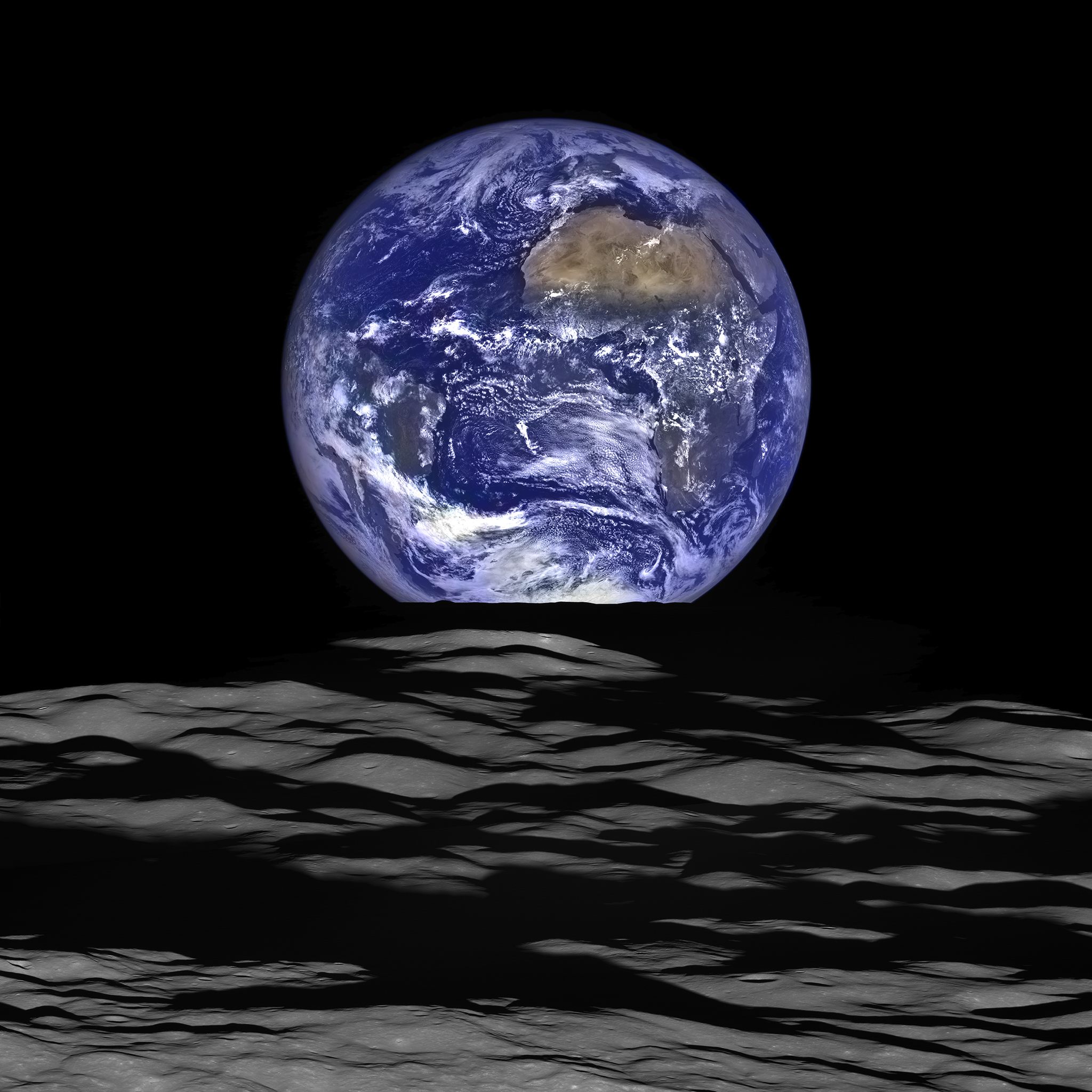 earthrise from the moon, NASA, 2015