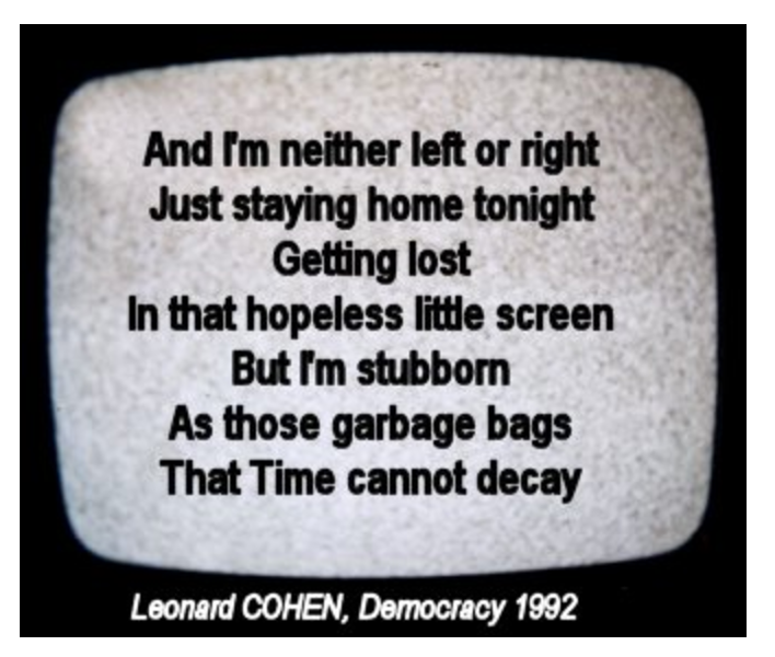 democracy leonard cohen