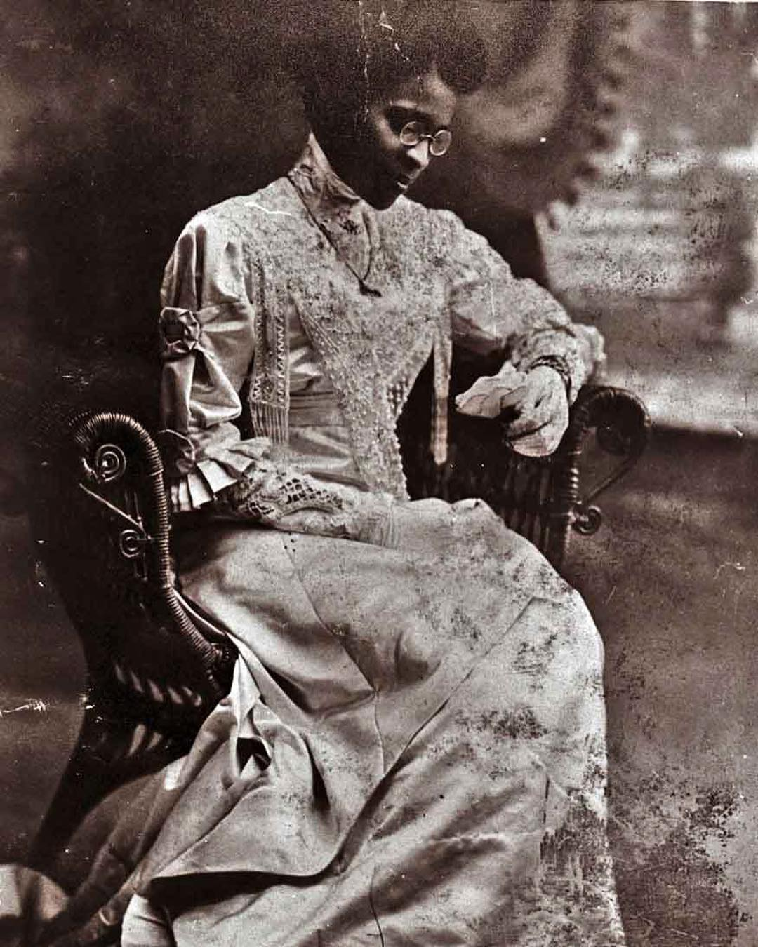Charlotte Hawkins Brown in her wedding dress, 1912. Credit: NC Department of Natural and Cultural Resources/Public Domain